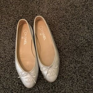 Silver vintage Chanel shoes